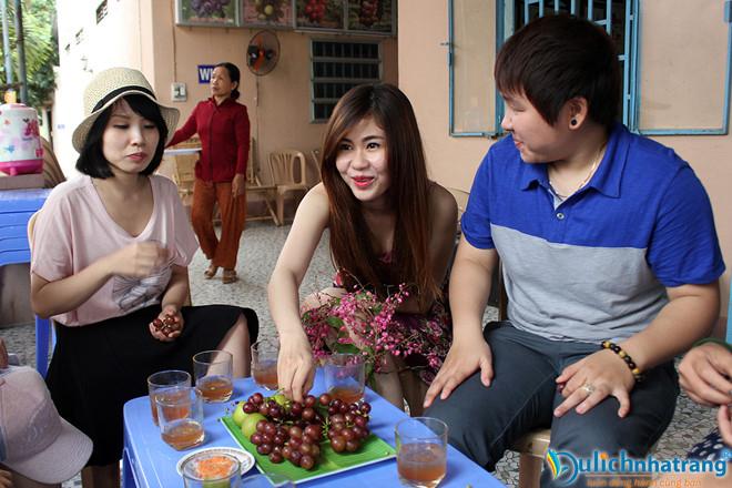 vườn nho. Tour hang rái Nha Trang.