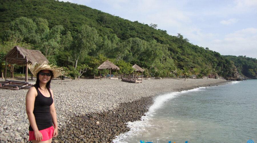 tắm biển ở bãi tranh